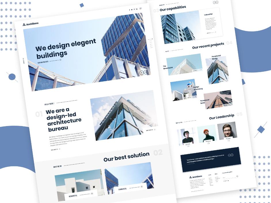 Architect Landing Page Design