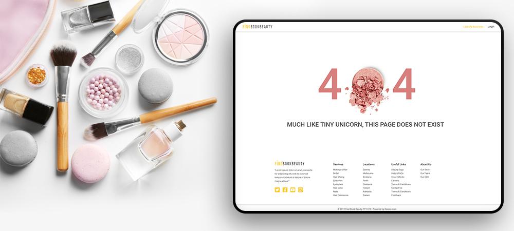 Beauty App 404 Page