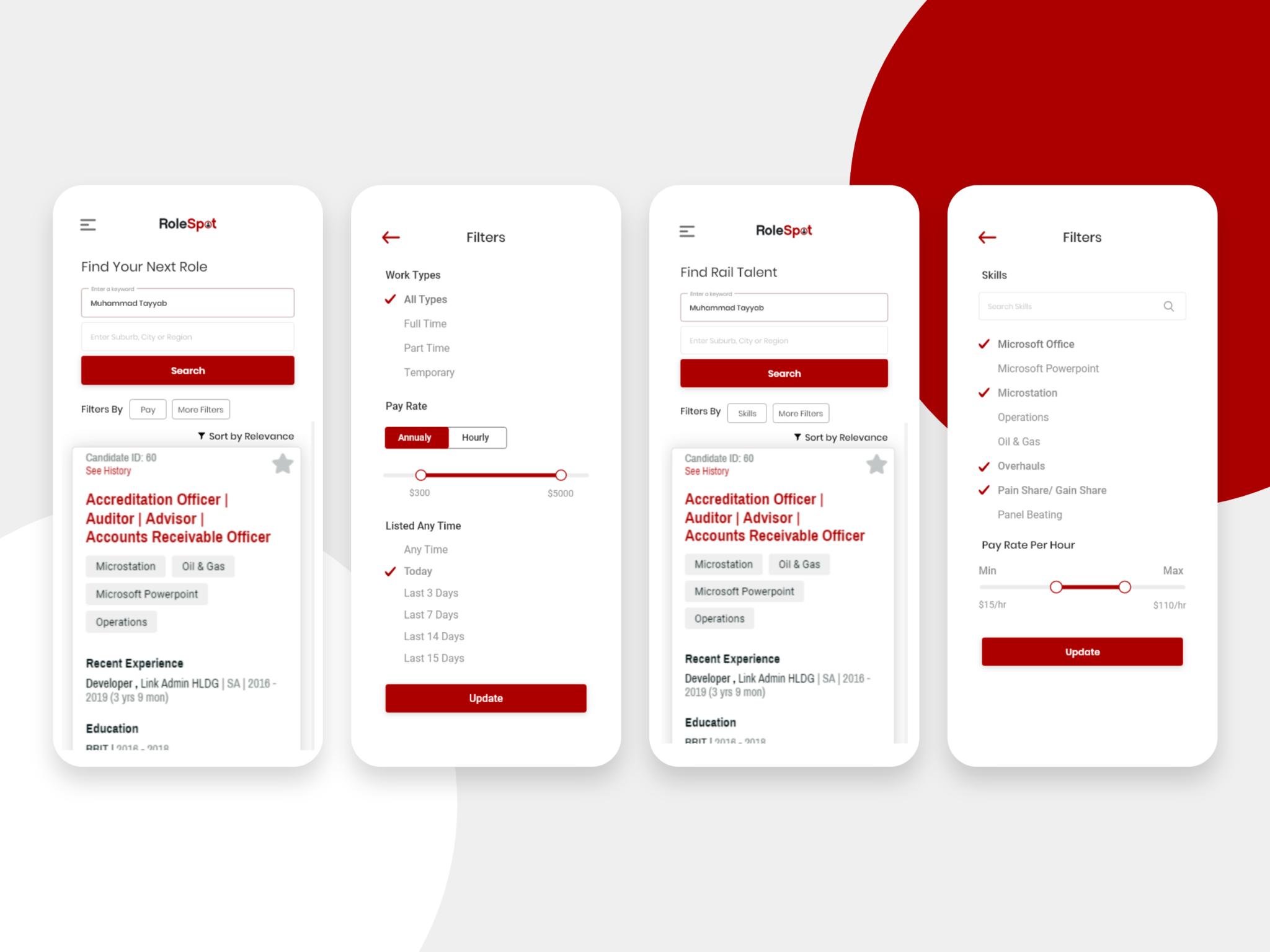 Recruitment Mobile App
