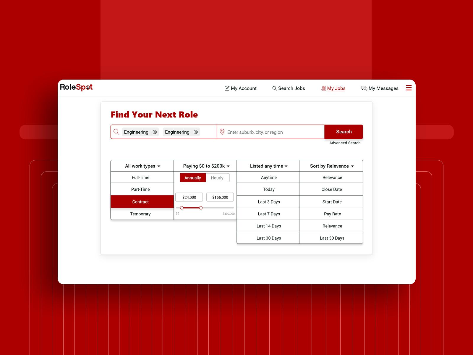 RoleSpot Job Filters