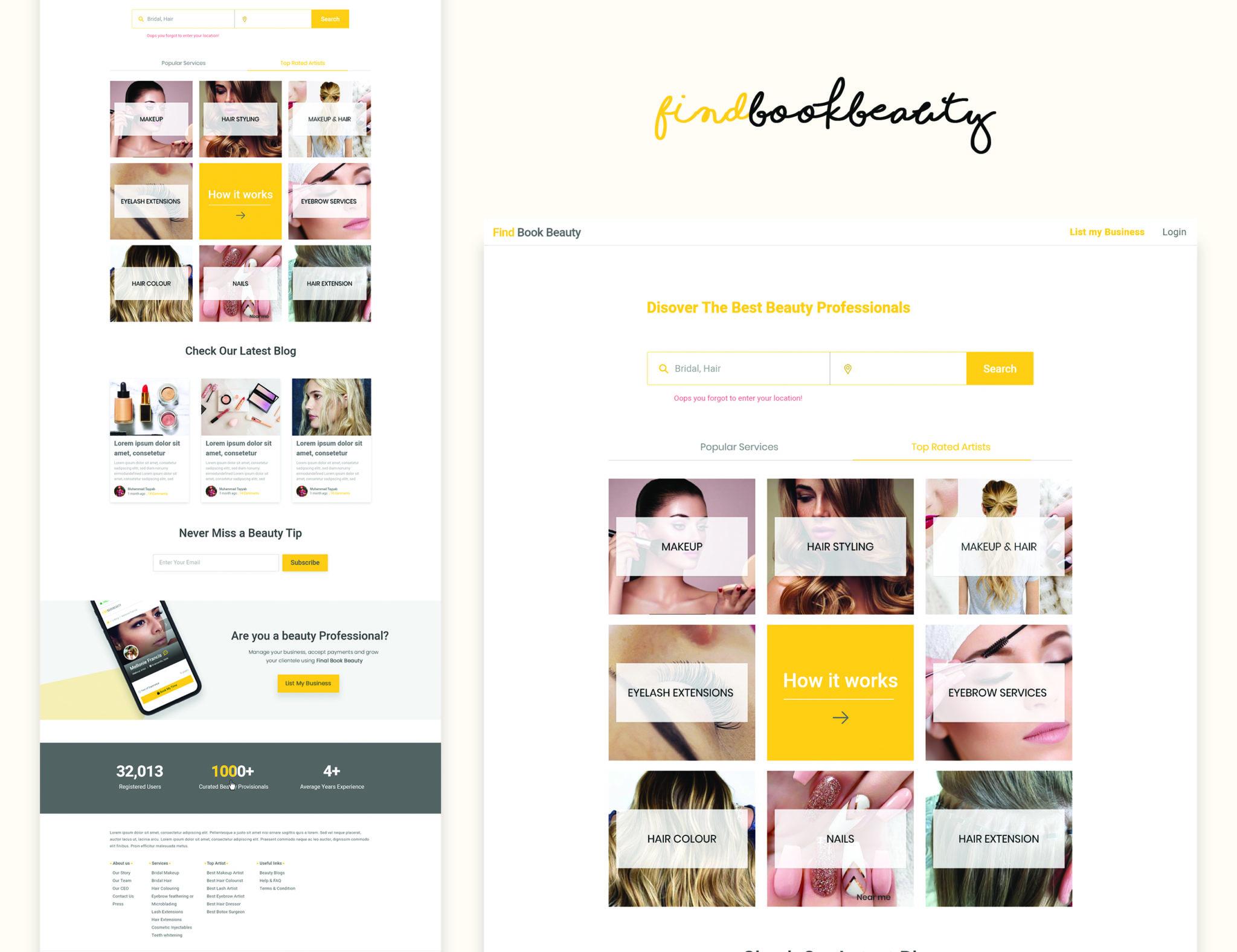 Beauty Homepage Design