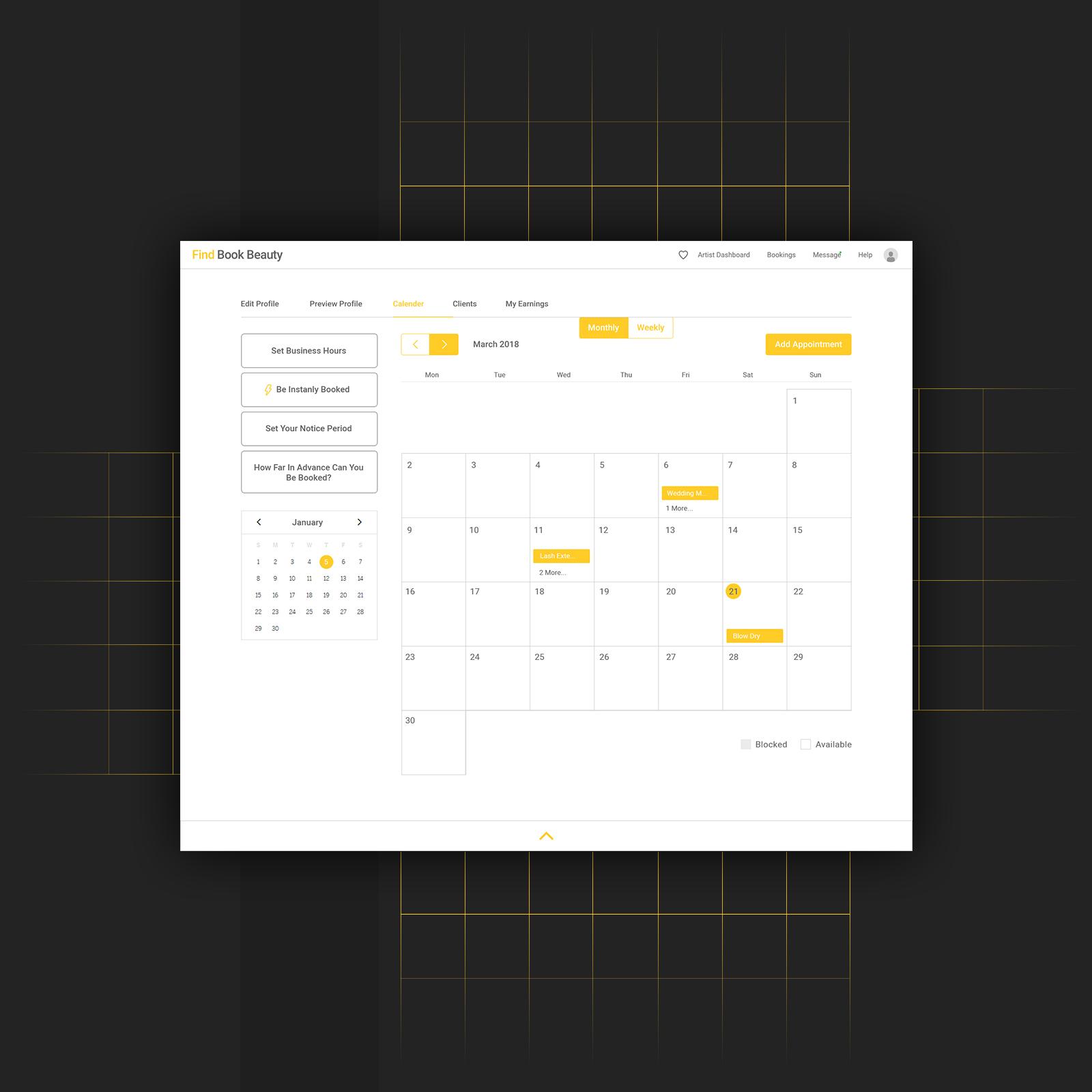 My Calendar Dashboard