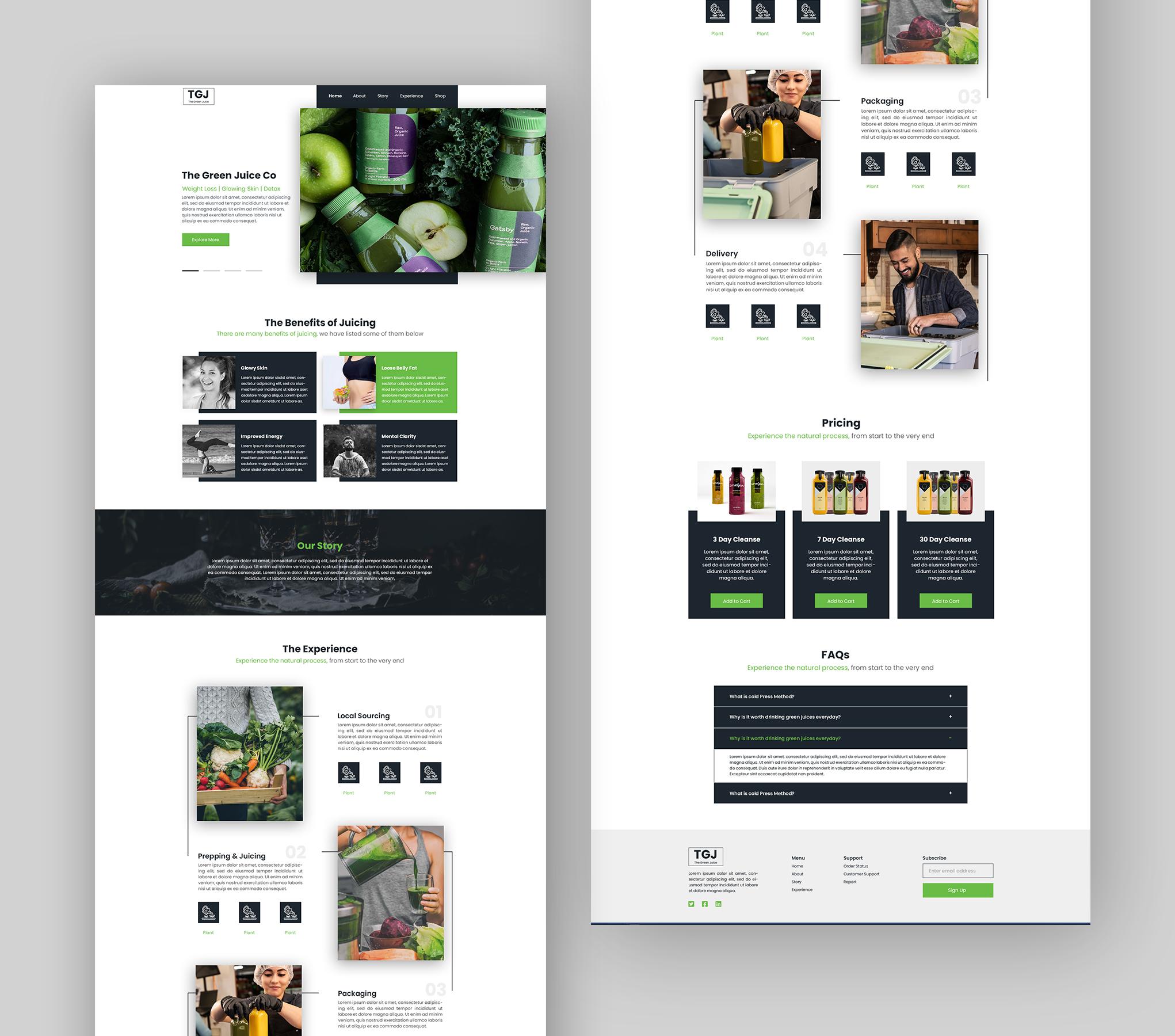 Green Juice Landing Page