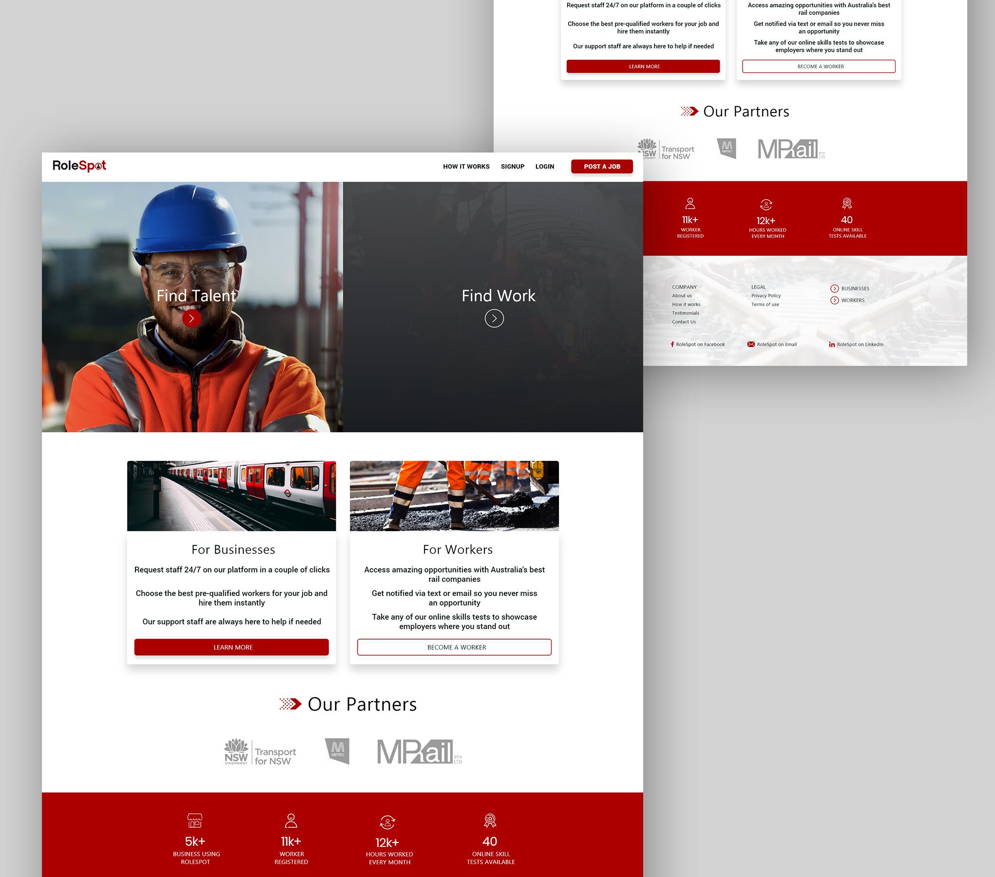Rolespot Landing Page